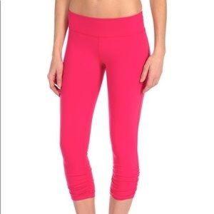 Beyond Yoga pink ruched leggings